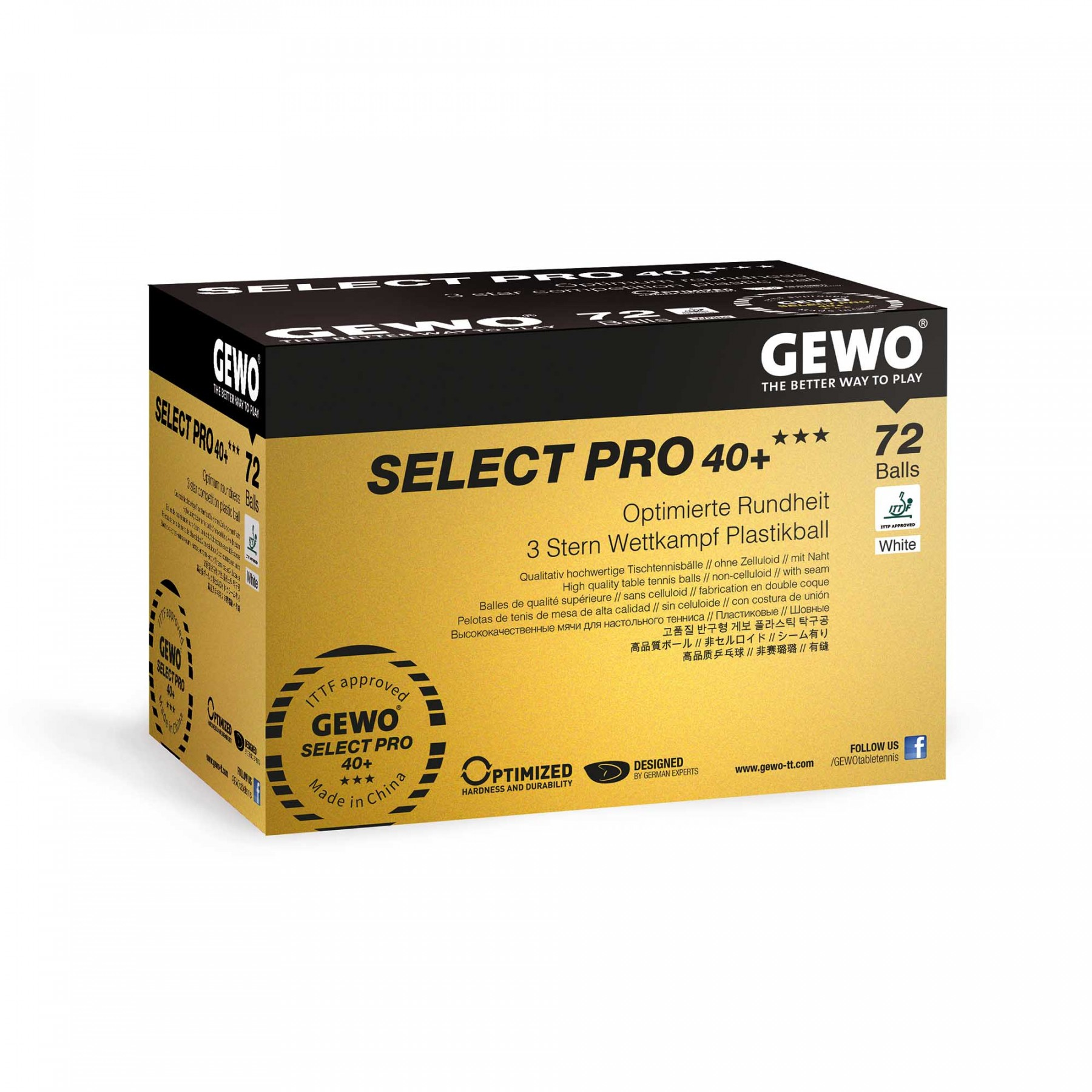 Gewo Select Pro 40 3 Table Tennis Ball