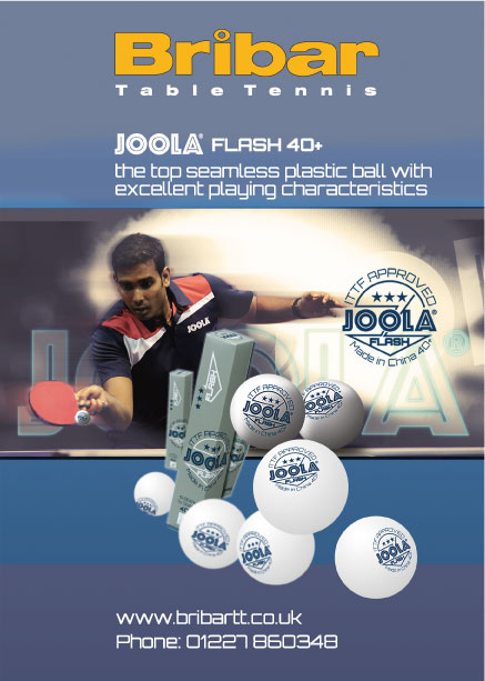 JOOLA FLASH 40+ TABLE TENNIS BALL