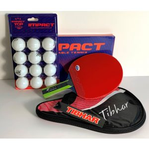 f7c1b4934dbe IMPACT LEGEND ALLROUND TABLE TENNIS BAT PACKAGE