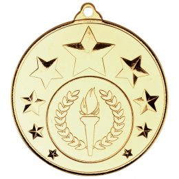 1. Multi star medal (1in centre) <br>RRP £1.20 <b>SALE PRICE £0.96</b>