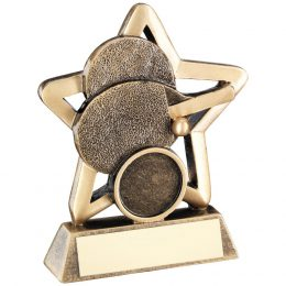 13. Brz/gold table tennis mini star trophy <br>RRP £5.75 <b>SALE PRICE £4.60</b>