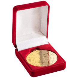 9. Deluxe red/black/blue/green medal box<br>RRP £4.25 <b>SALE PRICE £3.40</b>