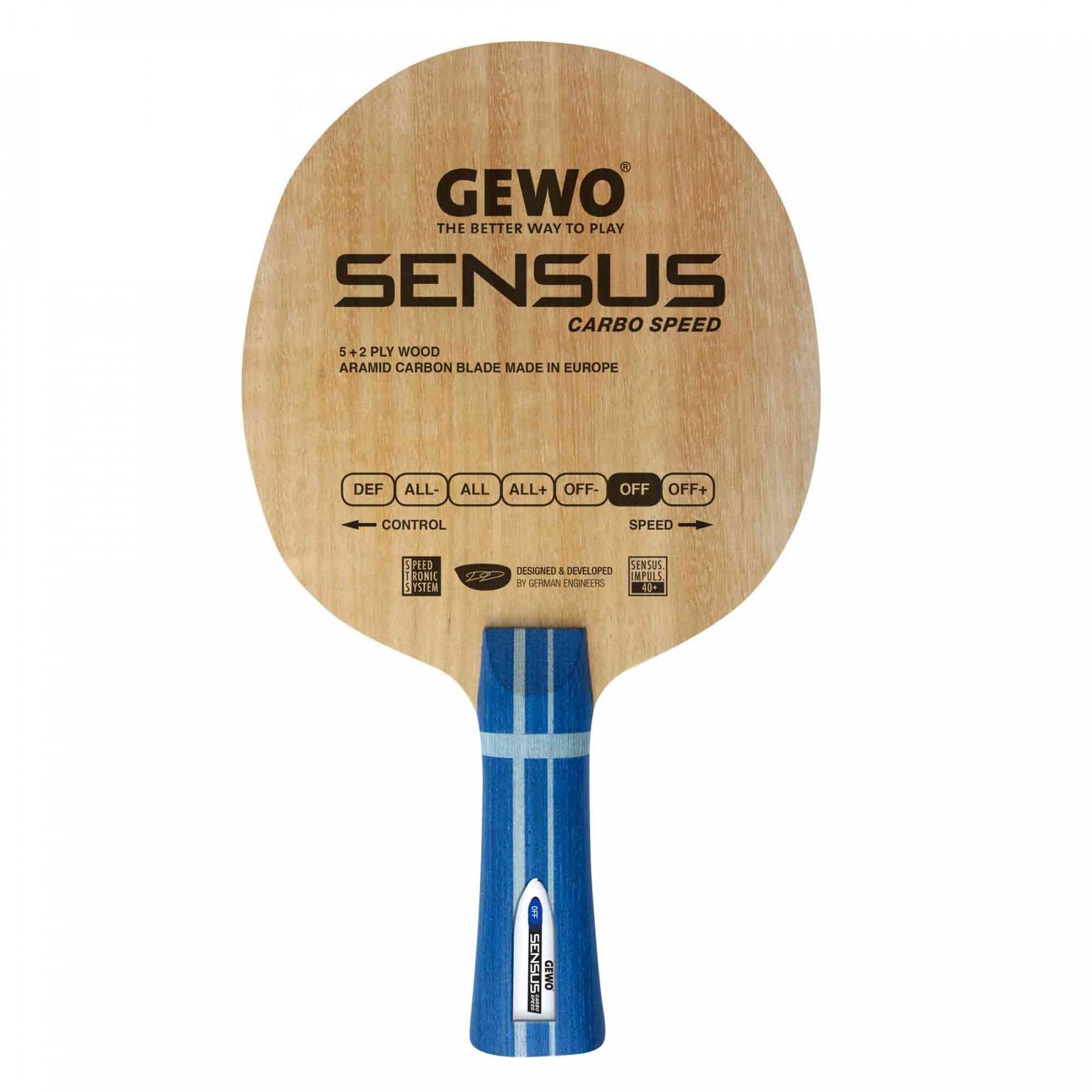 Gewo Sensus Carbo Speed Table Tennis Blade